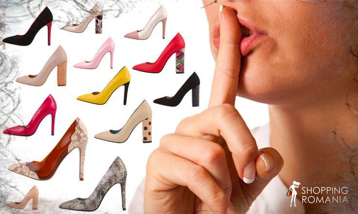 #stiletto #shoes #love on #shoppingromania. Find them here: http://www.shoppingromania.com/pantofi