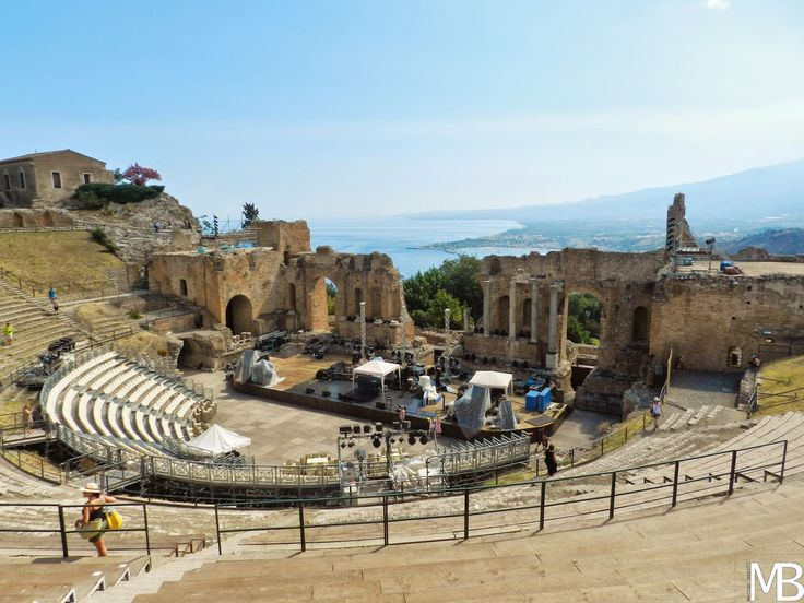 Teatro greco di taormina in Sicilia - Greek theater in Taormina, Sicily