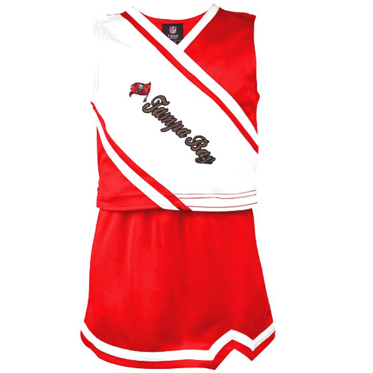 Tampa Bay Buccaneers Historic Logo Preschool Girls Team Spirit 2-Piece Cheerleader Set - Red - $23.74
