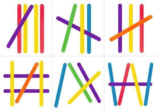 Clothespins, spatulák és a matematika - óvodai - Maam.ru