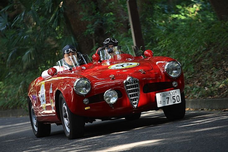 1958 alfa romeo giulietta spider departure la festa mille miglia 2013 sport cars pinterest. Black Bedroom Furniture Sets. Home Design Ideas