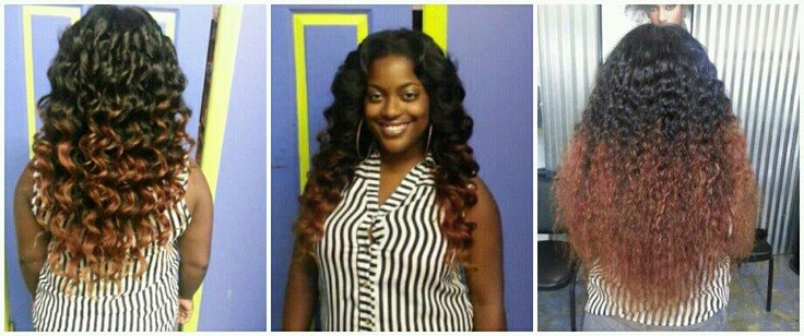 Ombre Sew In Curly Wavy Fabulous Hairstyle