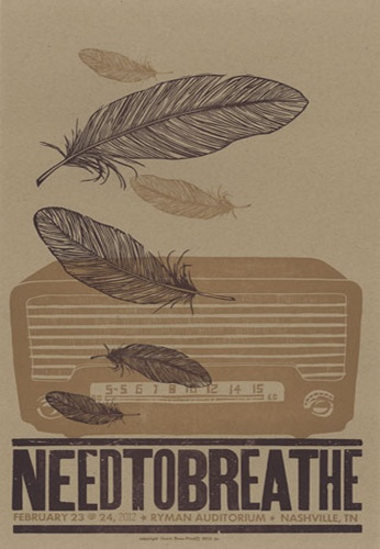 Needtobreathe. In honor of seeing them in concert last night on the last stop of their tour <3