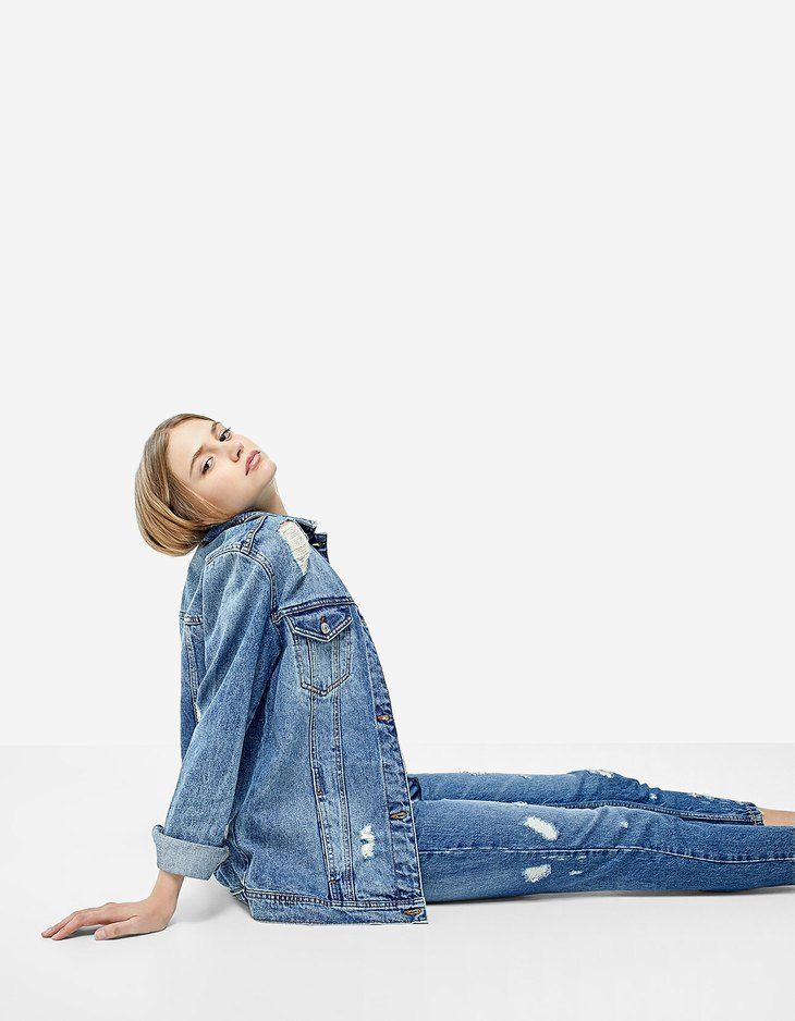 At Stradivarius you'll find 1 Oversize denim jacket for just 5346 Japan . Visit now to discover this and more Jackets.