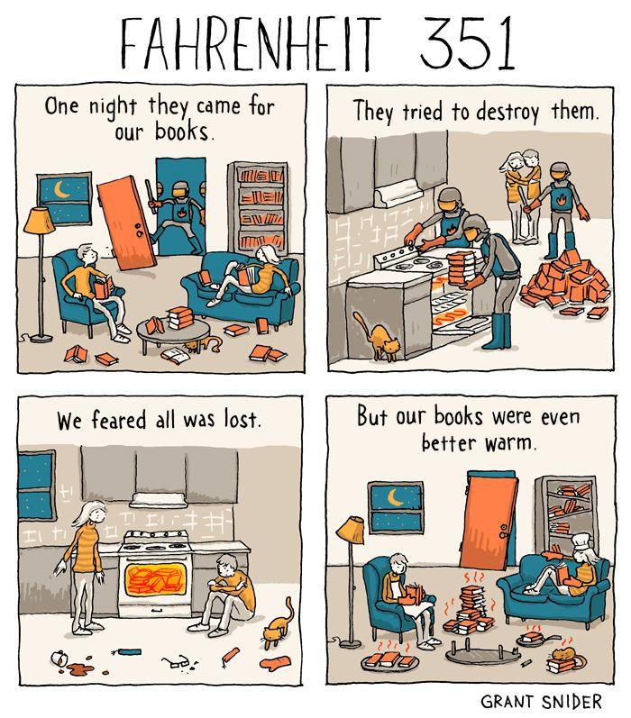 "incidentalcomics: "" Fahrenheit 351 (After Ray Bradbury) """