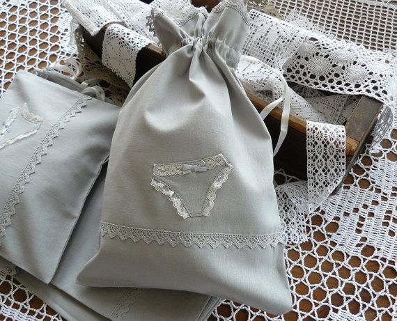 Bridal gift lingerie travel bag lingerie pouch with by BalticBags