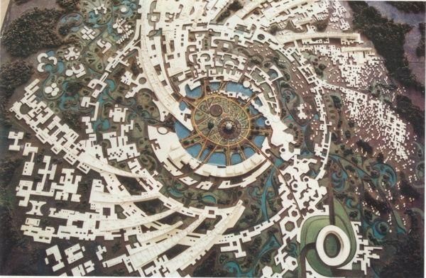 ville avec architecture utopique - Aurora - expérience
