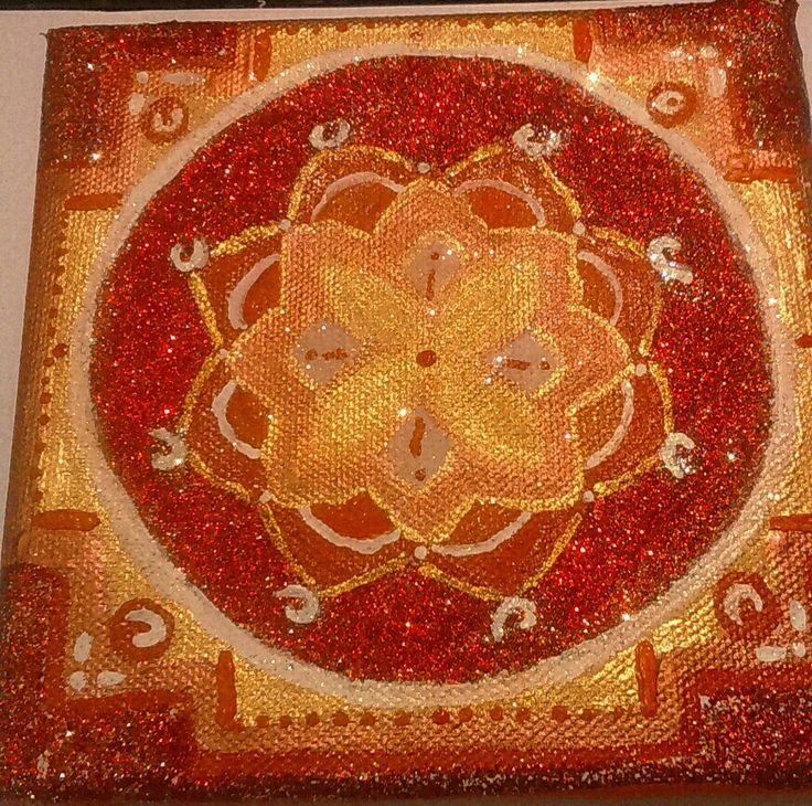 Red passion Mandala