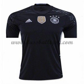 Günstige Fußballtrikots Deutschland Nationalmannschaft 2016 Torwart Heimtrikot Kurzarm
