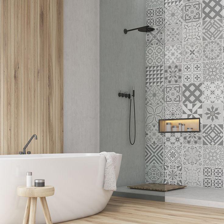 Vinilo Baeza | Azulejos para baños modernos, Baños ...