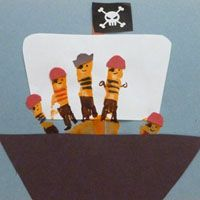 Pirates crafts and activities for preschool and kindergarten