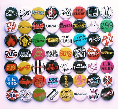 70's Punk New Wave Band Collection - 56 Badges inc The Damned, The Clash etc | eBay