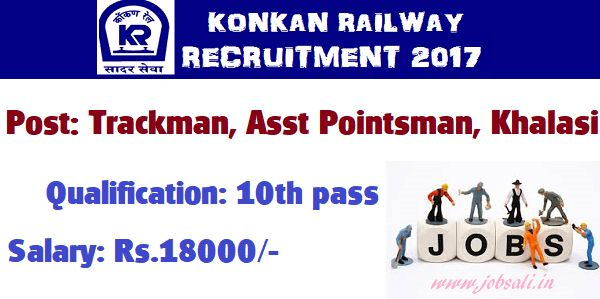 Konkan Railway Recruitment 2018 Trackman Khalasi Education