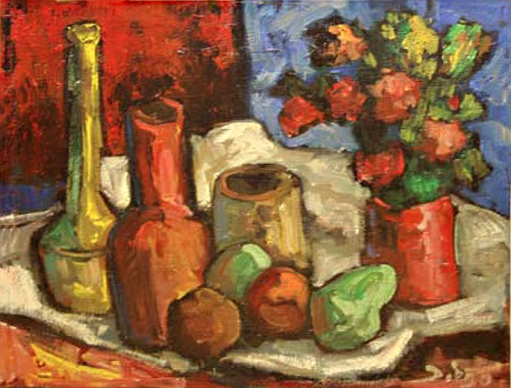 """DiegoVoci™ -For #Sale """"Still-life"""" (#3836918) 61 x 72cm, Oil on Canvas. Shipping Included in 2000 Euro Price. Direct from Helga, #Diego's widow in Germany: https://diegovociproject.wordpress.com/2015/09/23/my-new-abode-helga-voci/"""