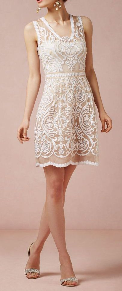 Love this dress! Perfect for a wedding rehearsal or in my case the legal Canadian ceremony after my destination wedding in Dominican