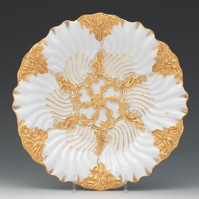 Rare Meissen Oyster Plate