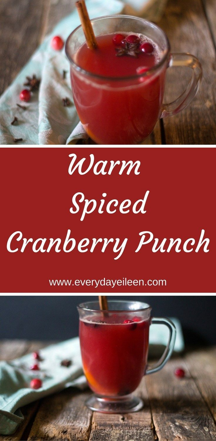 Warm Spiced Cranberry Punch - Prepare in the slow-cooker for a perfect punch to enjoy throughout the Holidays and all winter long! No added sugar, low-calorie and a breeze to prepare.