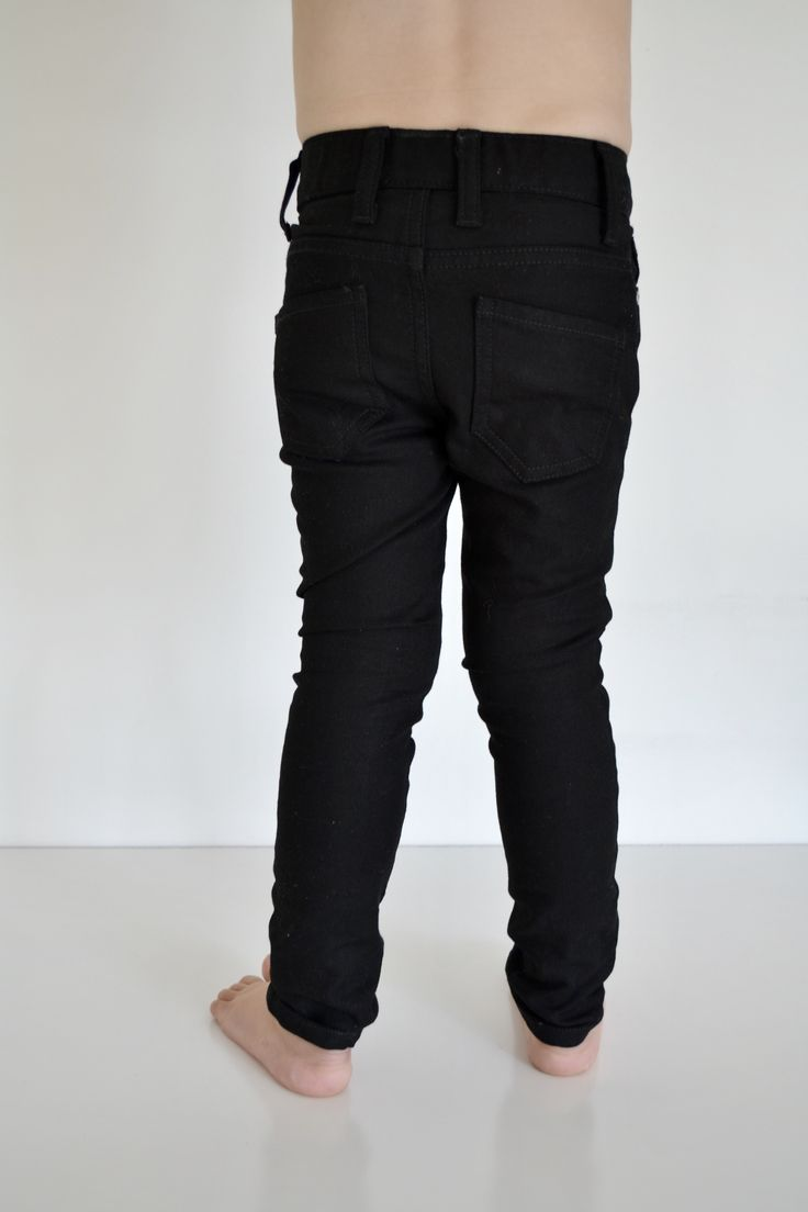 Super Skinny Black Jeans Available size 1-7 Slim fit clothing Made in Australia