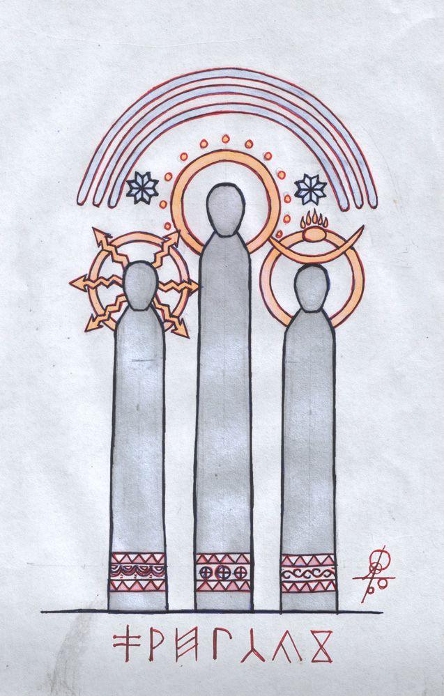 Перун, Сварог и Велес