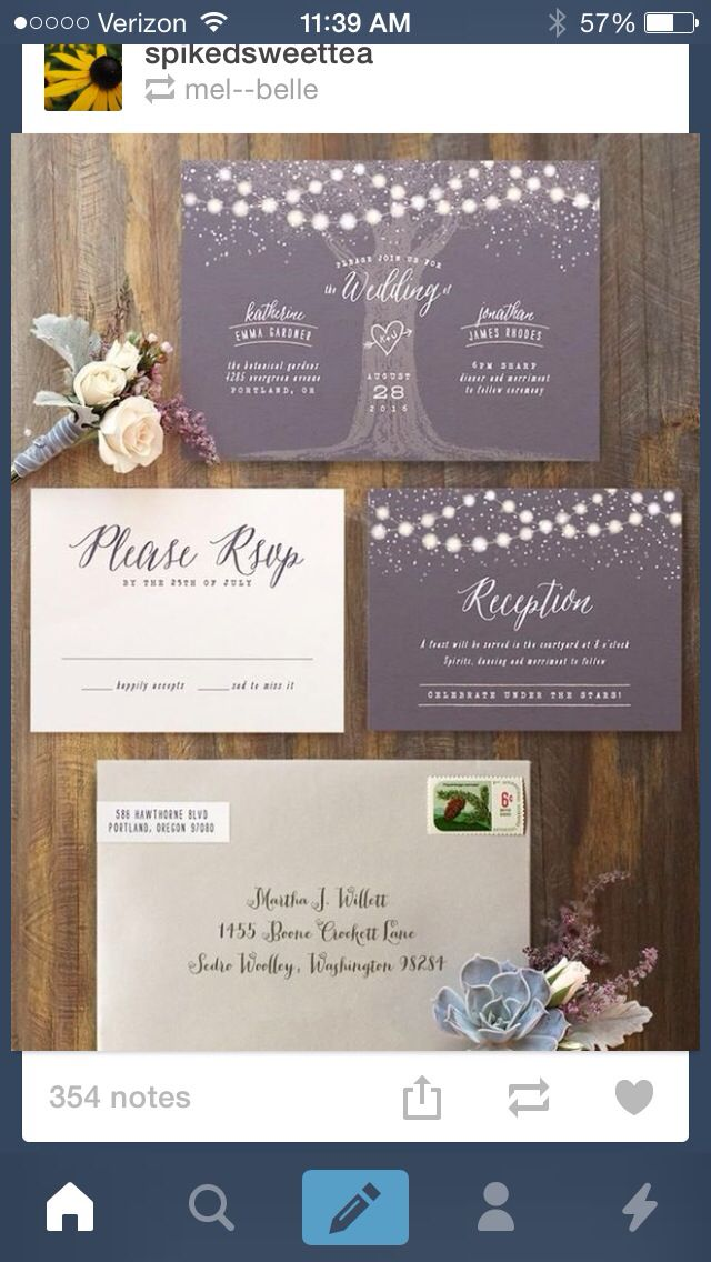 Magical wedding invitation suite to set the