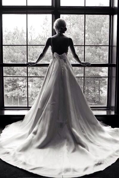 I love that this is the last photo of the bride alone before the next chapter :)