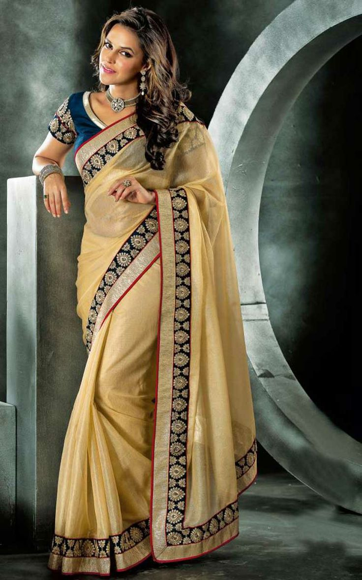 FAWN JACQUARD NET LATEST SAREE - VAL 5315