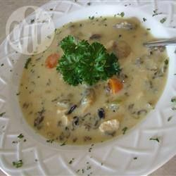 Wild Rice, Mushroom and Chicken Soup