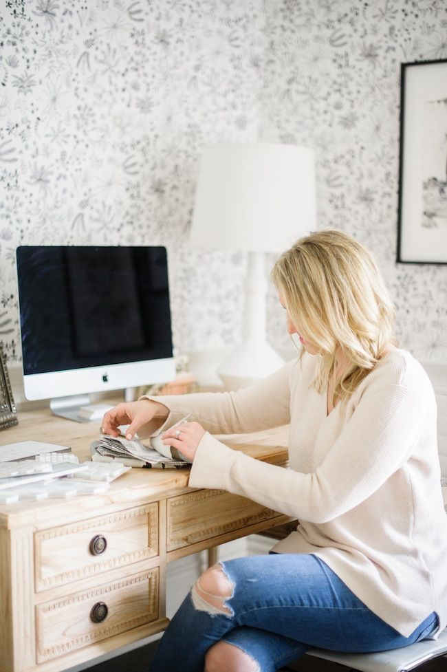 Colette Desk From AVE Raw Featured In The Office Redesign By Blog Lark And  Linen | · Home Office Furniture DesignInterior ...