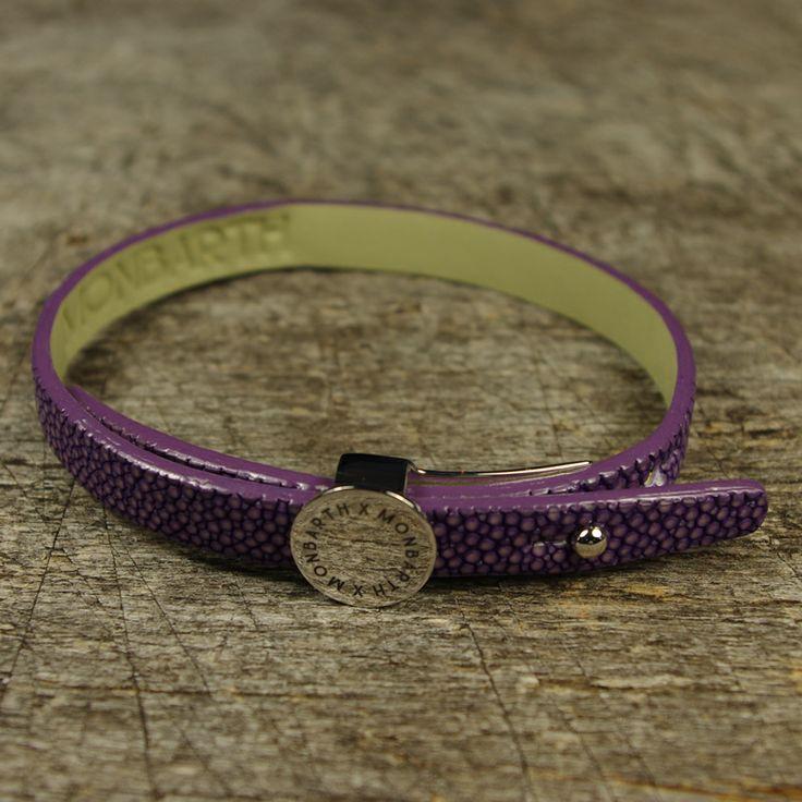 Bracelet Galuchat Lavender Simple Tour MONBARTH