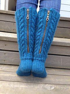 'Sussa jotain on!' Socks designed by Pirjo Iivonen - love this idea of putting zips in the back.