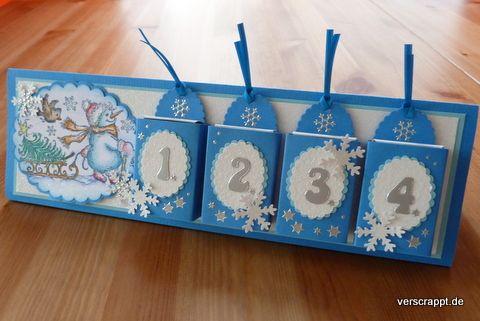 Advent-Adventskalender-Karte-Aufsteller-Adventskalenderkarte-erster-zweiter-dritter-vierter-Eisblau-Cover
