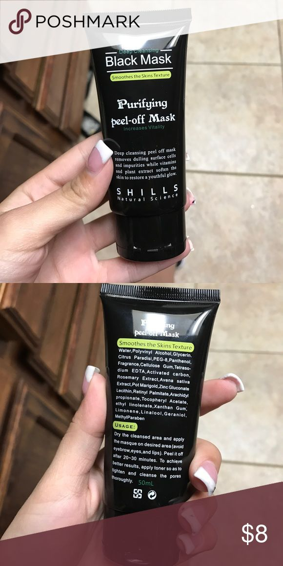black peel off mask only used once Other