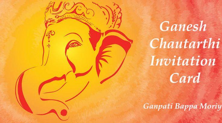 happy ganesh chaturthi invitation card images ganpati