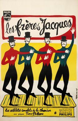 Jean Davis Malcles poster: Les Freres Jacques - Philips
