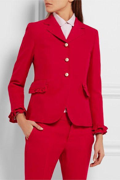 Gucci | Ruffled wool and silk-blend jacket | NET-A-PORTER.COM