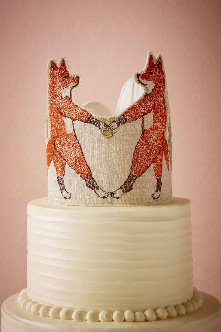 Foxtrot Cake Topper from @BHLDN