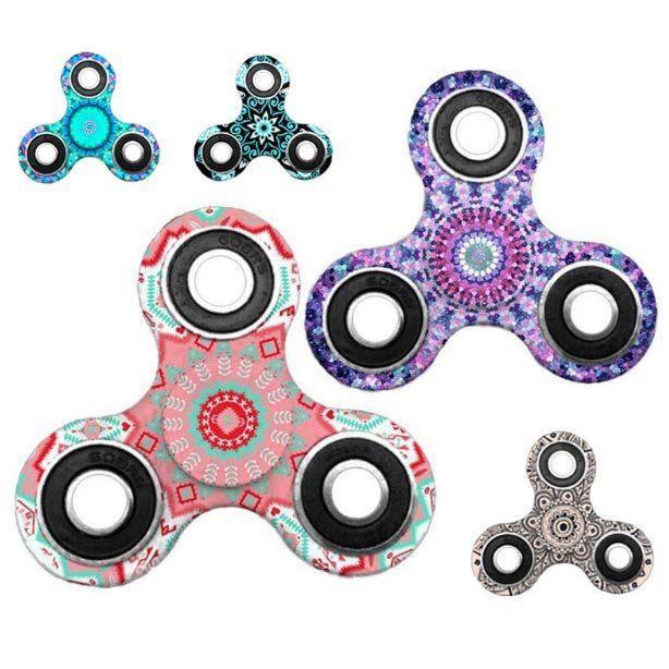 5 stk Mandala Fidget Spinner (spar 100 kr)