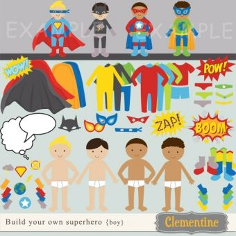 Build your own superhero by Clementine Digitals