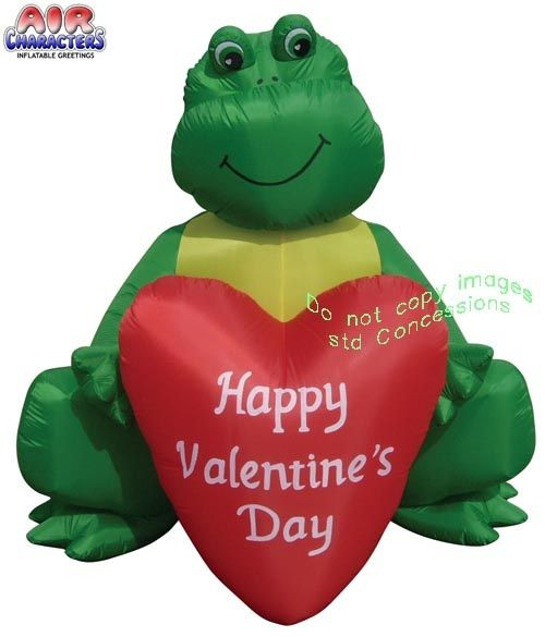 Frog Holding Heart Valentines Inflatable. Very Adorable And Cute Valentine  Frog Holding Heart Valentine Airblown