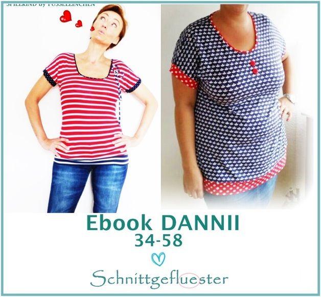 """Nähanleitungen Mode - Ebook """"DANNII"""" 34-58 10 MINUTEN Shirt... - ein Designerstück von Schnittgefluester-Shop bei DaWanda"""