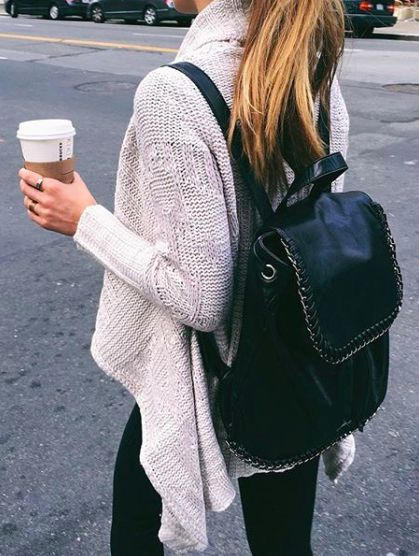 Pinterest @esib123  black leather backpack. can anyone please name  the brand!?!?