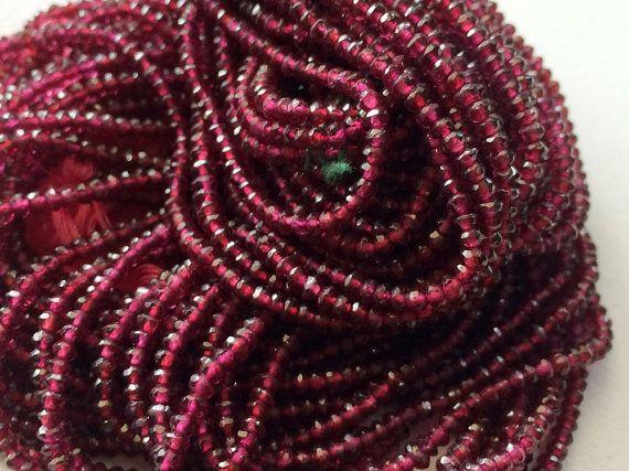 5 Strands WHOLESALE Garnet Rhodolite  Rhodolite by gemsforjewels