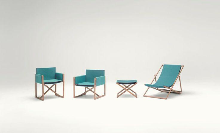 Sedia da giardino pieghevole con braccioli PORTOFINO | Sedia da giardino - Paola Lenti