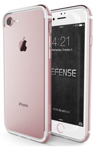 Bumper X-doria Defense Edge iPhone 7 Oro Rosa. Protege tu iPhone manteniendo su aspecto original con mismos colores.