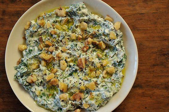 Yoghurt & Spinach Dip, 'Borani Esfanaaj', in the Persian Manner recipe from Food52