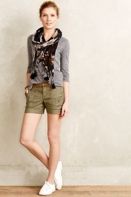 Level 99 Cuffed Cargo Shorts Moss 30 Pants #anthrofave #anthropologie