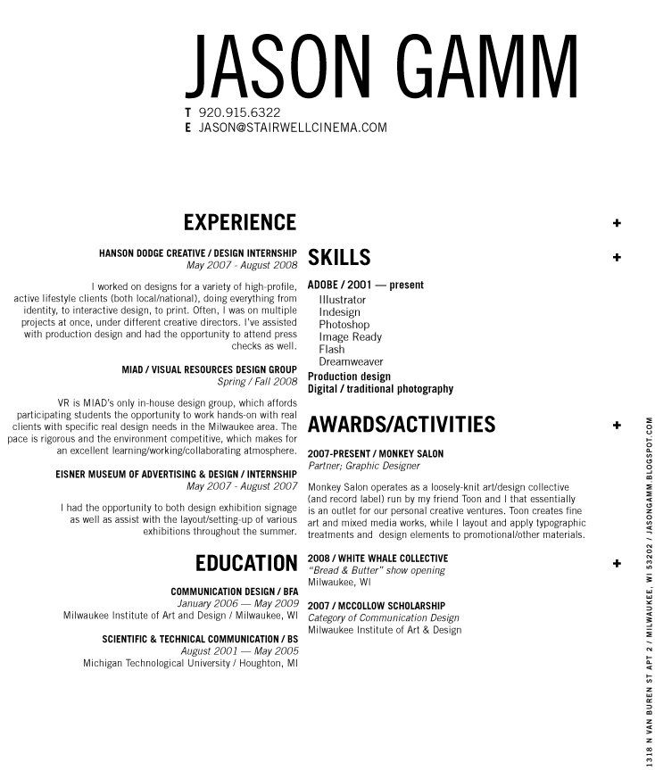 30 best Portfolio Source images on Pinterest Design resume, Resume