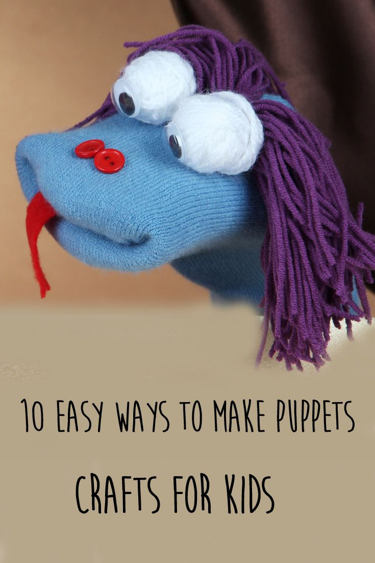 10 easy and fun ways to make puppets with kids using items you have in the house. From the cutest sock puppets to the coolest Minion puppets made from washing up gloves, these ideas will delight children of all ages. The perfect summer boredom busters