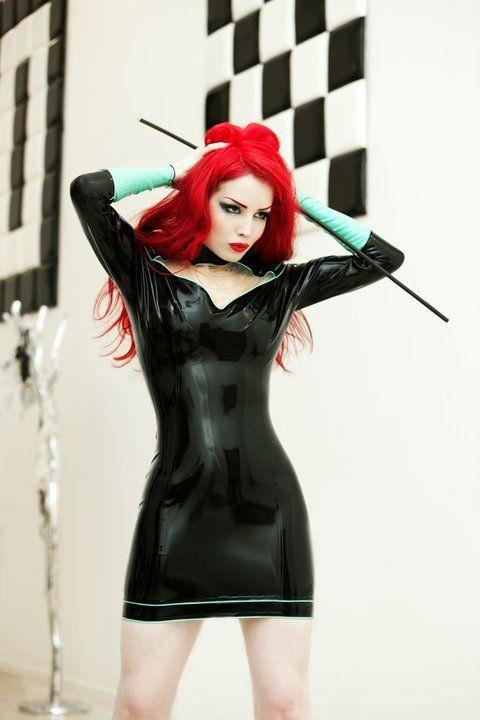 Dena Massque: Fetish Beautiful, Mint Green, Red Hair, Dresses, Schools Outfits, Latex Fashion, Gloves, Sweet Girls, Gossip Girls