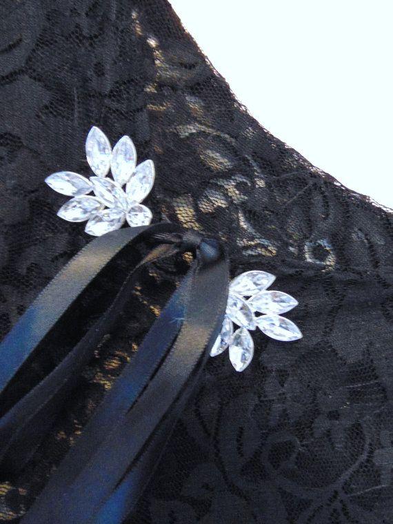 Capa de novia negro Shrug nupcial negro de encaje negro